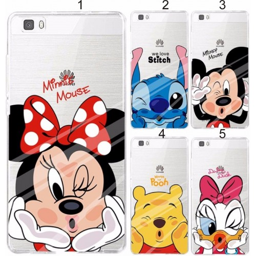 COVER CUSTODIA CASE TPU minnie mickey stitch per HUAWEI P8 P9 P10 lite & 2017