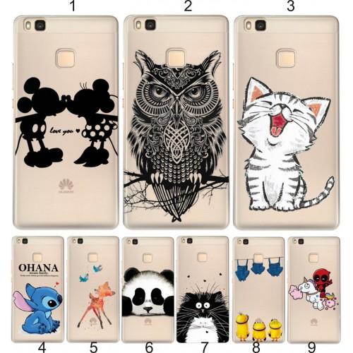 COVER CUSTODIA CASE TPU panda stitch per HUAWEI Honor 4C 7 8 P8 P9 Lite Y3 5 6