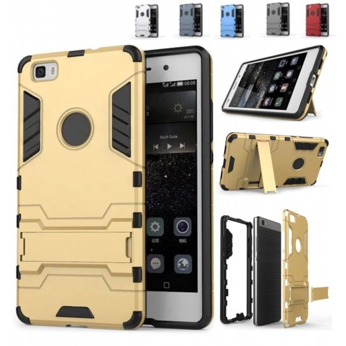 COVER CUSTODIA CASE bumper hybrid heavy con cavalletto per HUAWEI ASCEND P8 lite