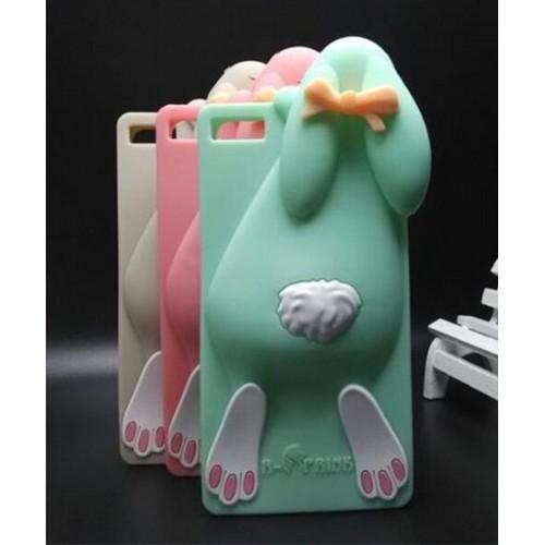 COVER CUSTODIA CASE fumetti silicone rabbit coniglio 3D per HUAWEI P8 Lite