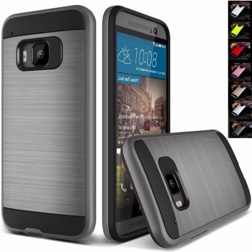 COVER CUSTODIA CASE hybrid luxury  per HTC ONE M9 in silicone antigraffio