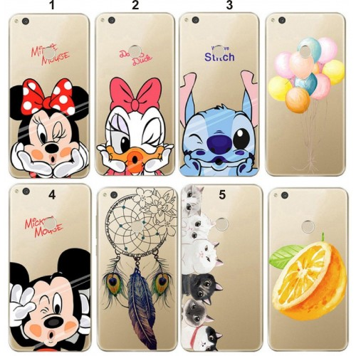 COVER CUSTODIA CASE in silicone minnie per HUAWEI P8 P9 P10 P20 lite 2017 Plus