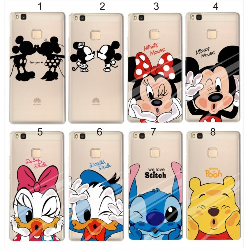 COVER CUSTODIA CASE mickey duck stitch per HUAWEI P8 P9 P10 lite Y3 Y5 2 2017