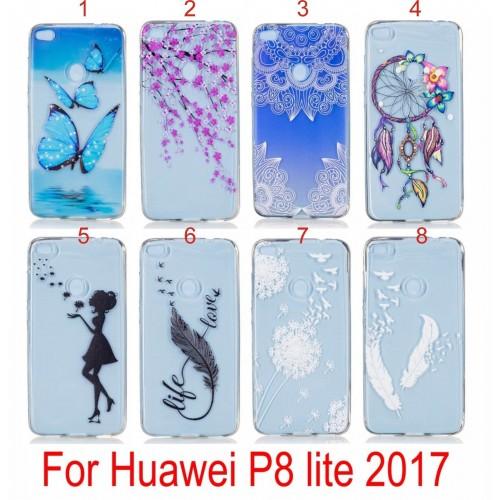custodia huawei p8 lite 2017 silicone colorata