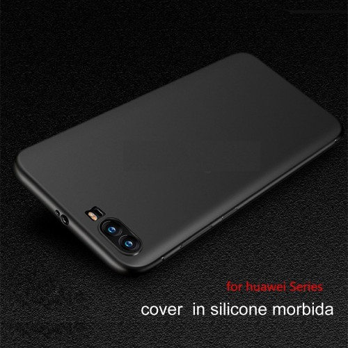 COVER CUSTODIA CASE silicone 0.5 antiscivolo per HUAWEI P8 P9 P10 lite Plus 2017