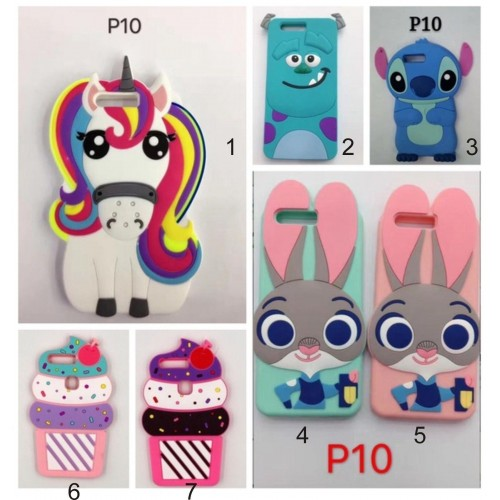 COVER CUSTODIA CASE silicone 3D stitch unicorno sulley per HUAWEI P10 lite Plus