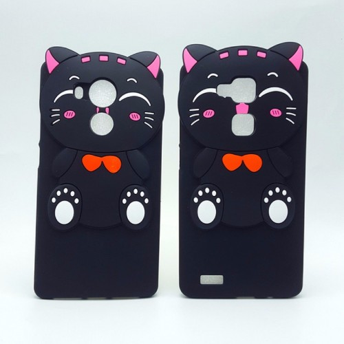 COVER CUSTODIA CASE silicone 3d gatto lucky cartoon kitty per HUAWEI Mate 7 8