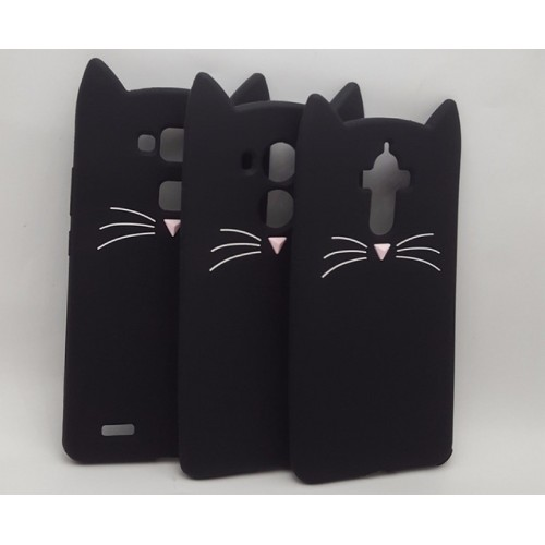 COVER CUSTODIA CASE silicone 3d gatto orecchie per HUAWEI Mate 7 8 9 10 lite
