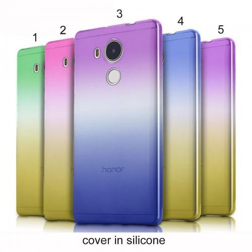 COVER CUSTODIA CASE silicone antiscivolo colori per HUAWEI P8 P9 P10 lite & 2017