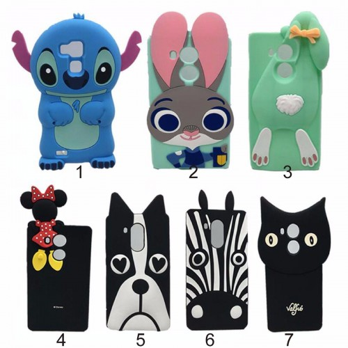 COVER CUSTODIA CASE silicone dog stitch coniglio minnie Cat per HUAWEI Mate 8