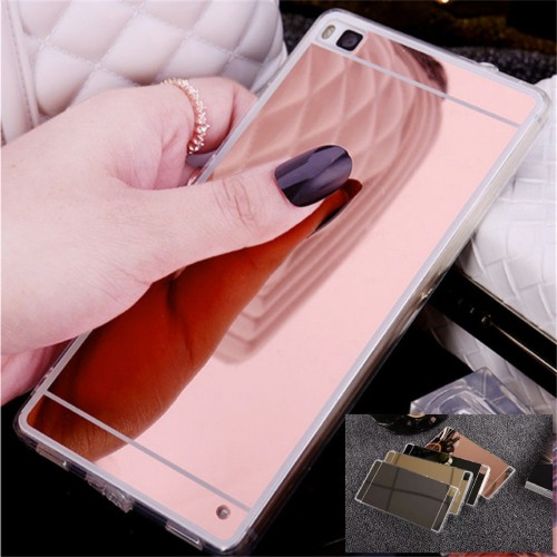 COVER CUSTODIA CASE silicone effetto specchio per HUAWEI ASCEND P8 P9 lite Plus