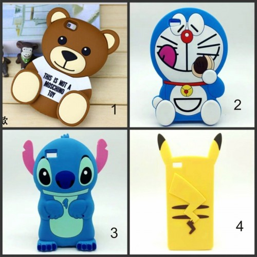 COVER CUSTODIA CASE silicone fumetti stitch teddy 3D HUAWEI ASCEND P8 lite 2015