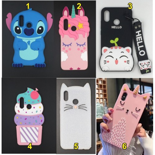 COVER CUSTODIA CASE silicone ice stitch unicorno 3D cat per HUAWEI P20 lite Pro