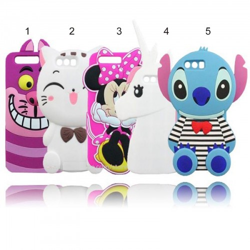COVER CUSTODIA CASE silicone minnie cat stitch per HUAWEI P8 P9 P10 lite
