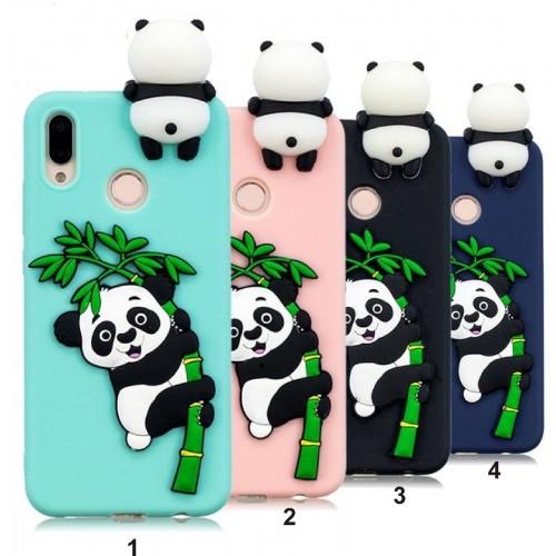 COVER CUSTODIA CASE silicone morbido panda 3D per HUAWEI P20 lite Pro nova 3E