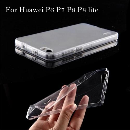 COVER CUSTODIA CASE silicone parabordi per HUAWEI P6 P7 P8 P9 P10 lite Plus 2017