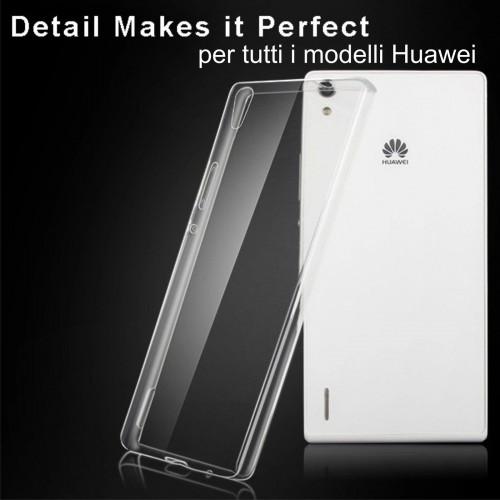 COVER CUSTODIA CASE silicone trasparente tpu per modelli HUAWEI ASCEND honor