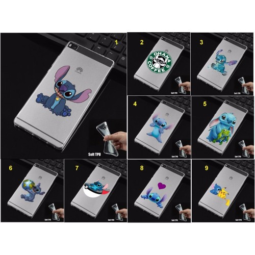 COVER CUSTODIA CASE stitch per HUAWEI P8 P9 P10 lite Plus Honor 5C 6X 8 pro lite