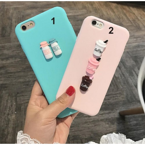 COVER CUSTODIA IN silicone SOFT milk coffee per HUAWEI Y3 Y5 Y6 Y7 Y9 2017 2018