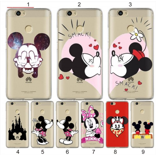COVER CUSTODIA case silicone minnie mickey cartoni 3d per HUAWEI Nova 2 Plus 3E