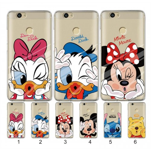 COVER CUSTODIA case silicone minnie mickey stitch pooh per HUAWEI Nova 2 Plus 3E