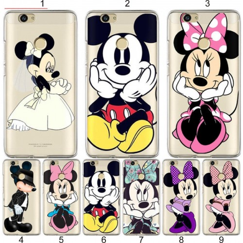COVER CUSTODIA case silicone soft minnie mickey disney per HUAWEI Nova 2 Plus 3E