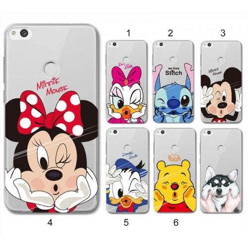 COVER CUSTODIA coque silicone duck minnie stitch mickeyper HUAWEI Y3 Y5 Y7 2017