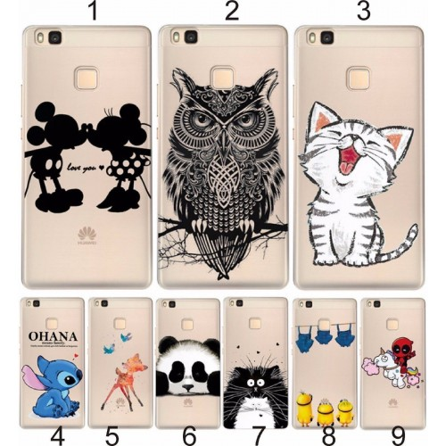 COVER CUSTODIA in silicone minnie stitch cat  per HUAWEI mate 10 lite pro Honor