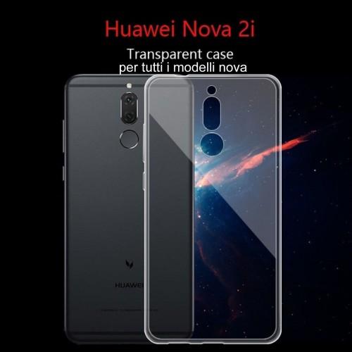 COVER CUSTODIA protezione in silicone antiscivolo per HUAWEI Nova 2i lite 3E 3i