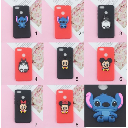 COVER CUSTODIA silicone 3D stitch minnie mickey per LG X power 2 Style screen