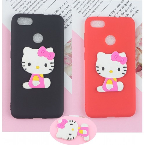 COVER CUSTODIA silicone 3d gatto kitty a rilievo per LG X power 2 Style screen