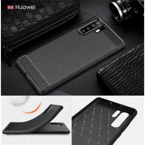 COVER CUSTODIA silicone carbon fiber per HUAWEI Mate 20 P20 P30 lite Pro smart