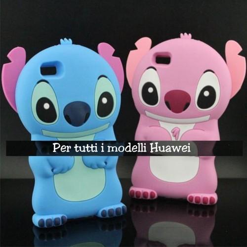 COVER CUSTODIA silicone cartone stitch 3D per HUAWEI P8 P9 P10 P20 pro lite Plus