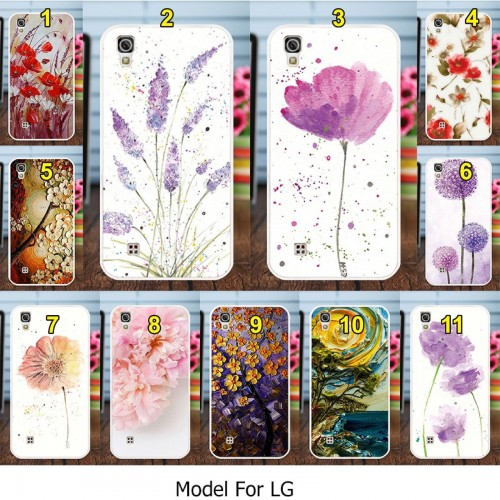 COVER CUSTODIA silicone cartoni fiori fashion star per LG X power Style screen