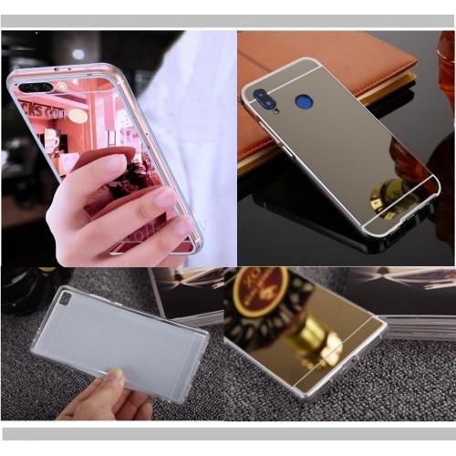 COVER CUSTODIA silicone effetto specchio per HUAWEI Psmart + nova 2 3 3e 3i lite