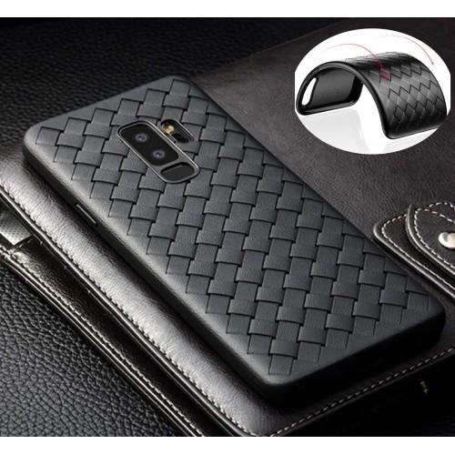 COVER CUSTODIA silicone effetto tessuto per samsung Galaxy A5 A6 A7 A8 Plus 2018
