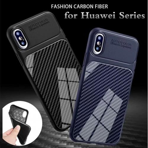 COVER CUSTODIA silicone fibra di carbonio per HUAWEI Honor 6X 7C 7A 8 9 10 lite