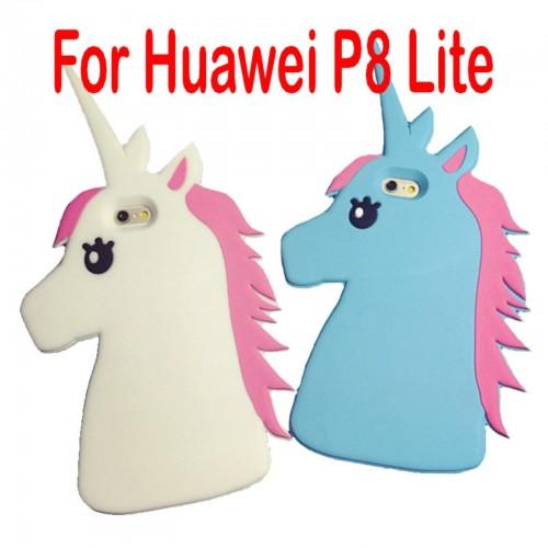 COVER CUSTODIA silicone fumetti Unicorno 3D per HUAWEI P8 P9 lite Y2 Y5 Y625 635