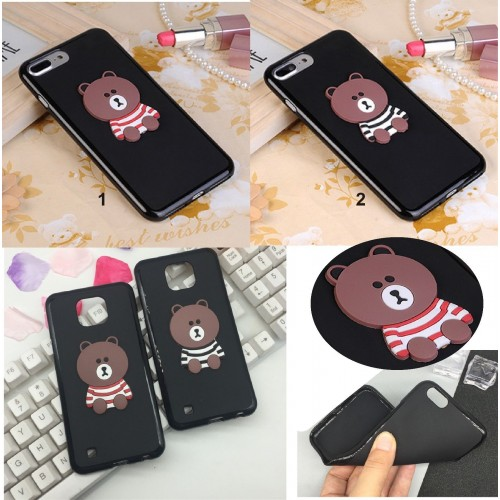 COVER CUSTODIA silicone teddy orso per LG X power 2 cam Style screen mach view