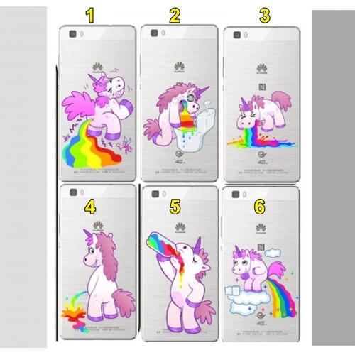 COVER CUSTODIA silicone unicorno per HUAWEI P8 P9 P10 P20 lite mate Y3 Y5 Y6 Y7