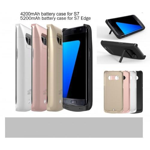 COVER Custodia CASE con batteria da 4200 / 5200 mah per Samsung Galaxy S7 & Edge