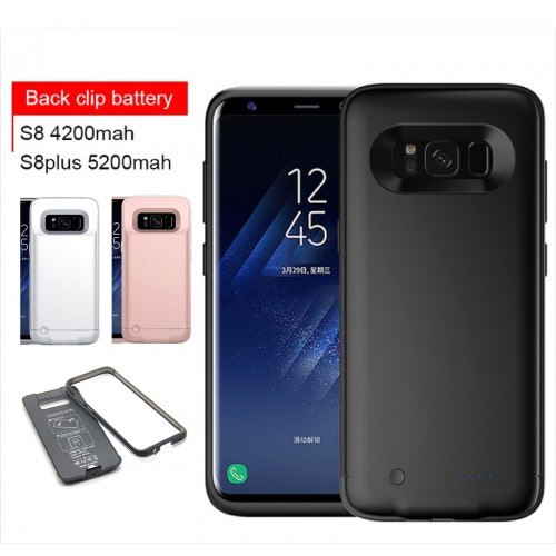 COVER Custodia CASE con batteria da 4200 / 5200 mah per Samsung Galaxy S8 & Edge