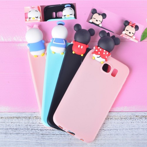 COVER Custodia CASE minnie mickey duck 3D per SAMSUNG GALAXY A3 A5 A7 2016 2017