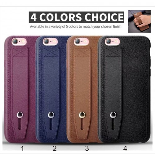 COVER Custodia CASE silicon effetto pelle gancio a fascia per iphone 5 6 6S 7 7S