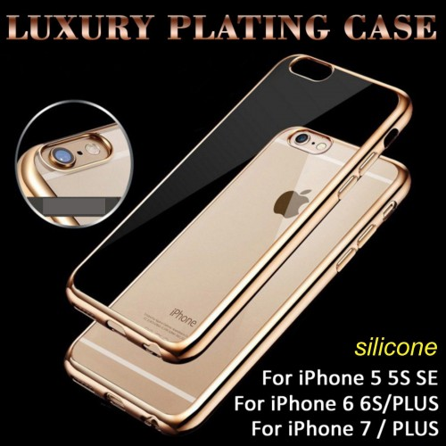 COVER Custodia CASE silicone con bordo placcato per iphone 5 6 6S 7 7S plus