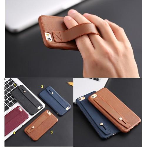 COVER Custodia CASE silicone effetto pelle con fascia per iphone 5 6 6S 7 7S plu