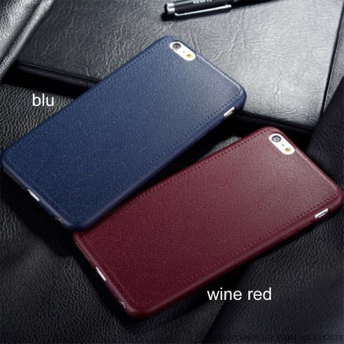 COVER Custodia CASE silicone effetto pelle elegant per iphone 5 6 7 S 8 Plus X