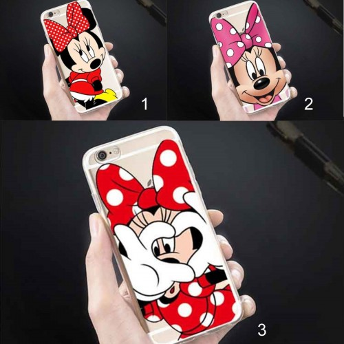 COVER Custodia CASE silicone minnie mickey disney per iphone 5 6 6S 7 8 plus X