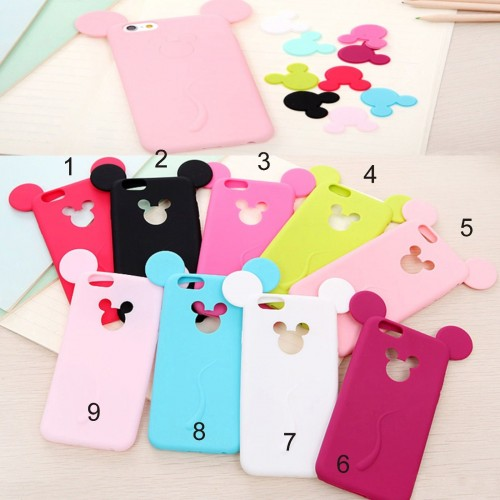 COVER Custodia CASE silicone minnie topolino mickey per iphone 6 6S 7 7S plus