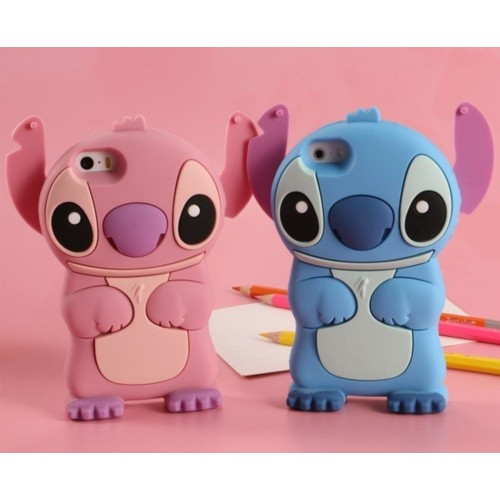 COVER Custodia CASE silicone stitch cartoni 3d per tutti iphone 4 5 6 7 8 Plus X